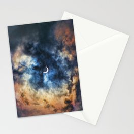 Night Moves - Partial Solar Eclipse Stationery Cards