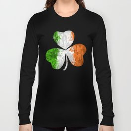 Irish Tricolour Shamrock Long Sleeve T-shirt