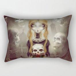 Black Widow by Élian Black'Mor Rectangular Pillow