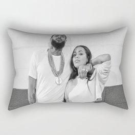 Nipsey Hussle and Lauren London Valentin Day Graphic T-Shirt Rectangular Pillow