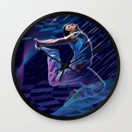 Dancer in Blue Wall Clock