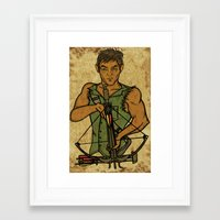 daryl Framed Art Prints featuring Daryl by Aqua Ink Graphics