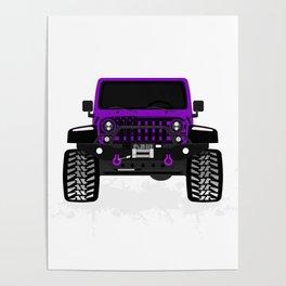 [JEEP] US_FLAG 'Purple' Poster