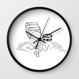 Salty AF - This Salt Shaker is Wide Open - Comic Wall Clock