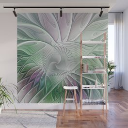 Colorful Fantasy Flower, Abstract Fractal Art Wall Mural