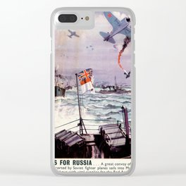 Arms for Russia Clear iPhone Case