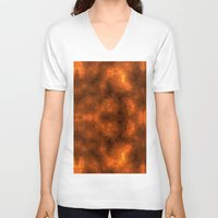 gold foil V-neck T-shirts featuring Gold Foil Texture 6 by Robin Curtiss