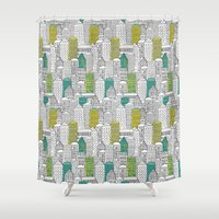 building Shower Curtains featuring Building by AlakaZoo