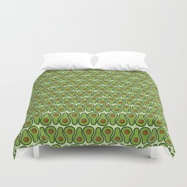 Avocado Doodle Pattern - Taco Series Duvet Cover