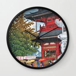 Kawase Hasui - Asakusa Morning Rain - Digital Remastered Edition Wall Clock