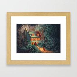 Wecome home, sweety Framed Art Print
