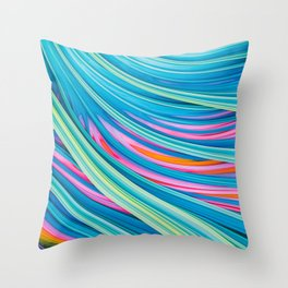 Strain Wave II. Abstract Art Throw Pillow