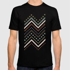 Mixed Zig Zag - in Mint MEDIUM Black Mens Fitted Tee