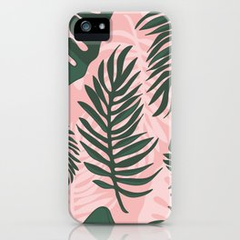 Jungle leaves pattern iPhone Case