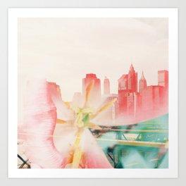 Floral Skyline Art Print