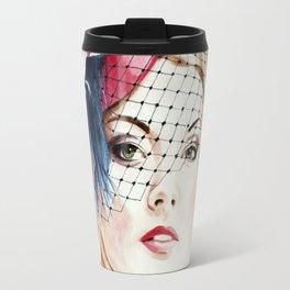 Vogue Magazine Cover. Hat by Ella Gajewska. Fashion Illustration Travel Mug