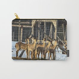Whitetail Deer Stare Down Carry-All Pouch