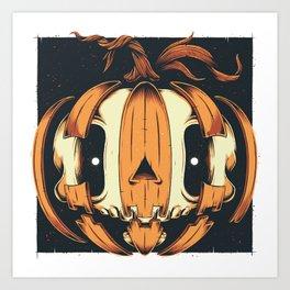 Jack-'o'Skull Art Print