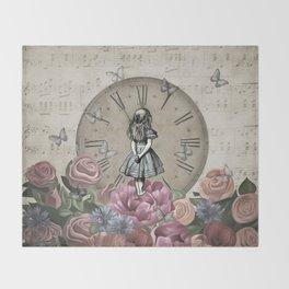 Alice In Wonderland - Wonderland Garden Throw Blanket