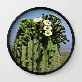 Beautiful Saguaro Blossoms Wall Clock