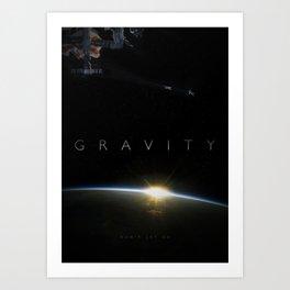 'Gravity' film poster Art Print
