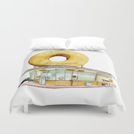 Randy's Donuts Duvet Cover