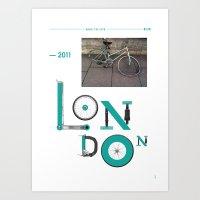 Bike to Life - London Art Print