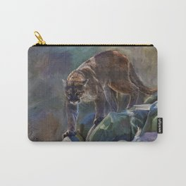 The Mountain King - Cougar Wildlife Art Carry-All Pouch