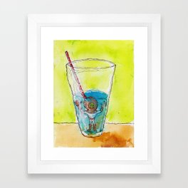 Lil Diver in a Half-Full, Half-Empty Situation Framed Art Print