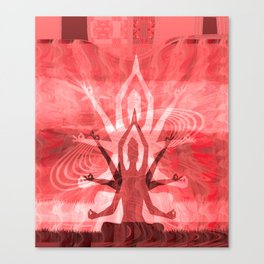 Goddess Kali Red Sunset Print Canvas Print