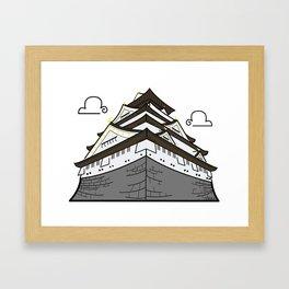 Icon-O-Tecture | Osaka Castle Framed Art Print