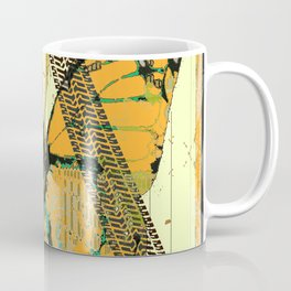ROADKILL MONARCH BUTTERFLY  & TIRE TRACKS ART Coffee Mug