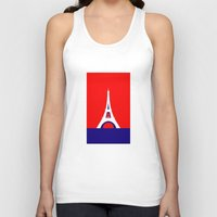 france Tank Tops featuring FRANCE by Marcus Wild