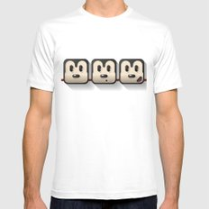 faces of mickey mouse White MEDIUM Mens Fitted Tee