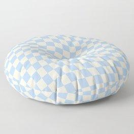 Check II - Baby Blue Twist — Checkerboard Print Floor Pillow