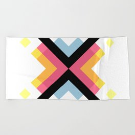 Abstract Retro Pattern 05 Beach Towel