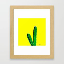 Your Stuck With Me - Yellow Framed Art Print