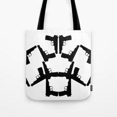 Pistol Robots Tote Bag