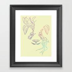 Earth Spirit Panda Framed Art Print