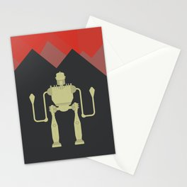 The Iron Giant, classic cartoon, minimal movie poster Stationery Cards