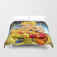 goku Duvet Covers featuring goku ball z design by customgift