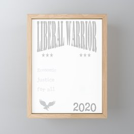 Andrew Yang 2020 | Liberal Warrior | Economic Justice for all Framed Mini Art Print