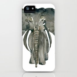 Mother Elephant Grey iPhone Case