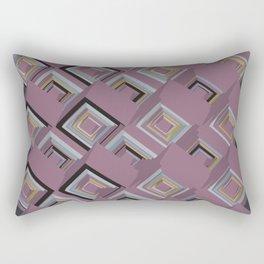 3D Cubes Rectangular Pillow