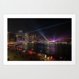 VIVID Sydney Harbour Art Print