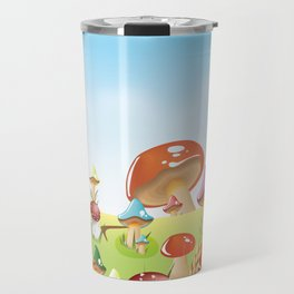 Mushroom fields panorama Travel Mug