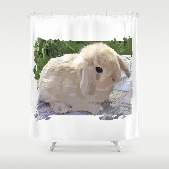 Rabbit Shower Curtain By Laurale