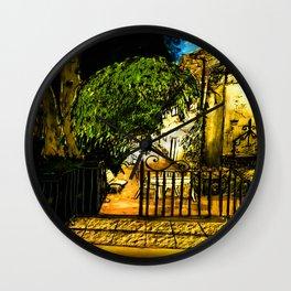 Provence by night Wall Clock