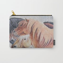 Three Musketeers Shetland Ponies Carry-All Pouch