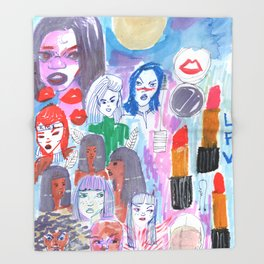 Moon Womans Squad Throw Blanket